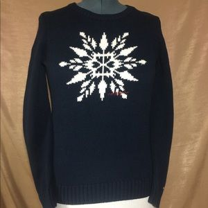 Tommy Hilfiger navy snowflake sweater, size M